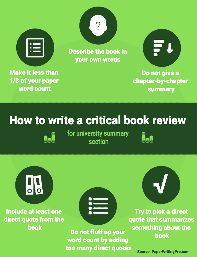 How to write a critical book review for a summary section