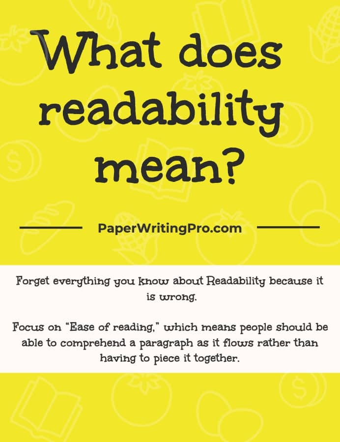what does readability mean