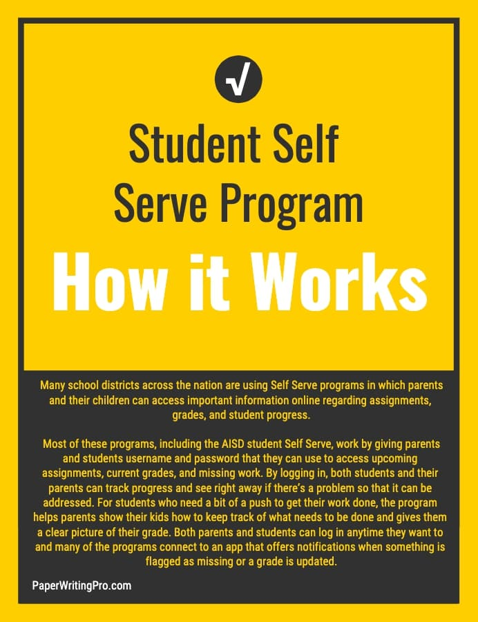 student self serve program